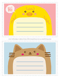 Printable Note Cards Adorable Animal Thank You Notecards For Kids Free Printable