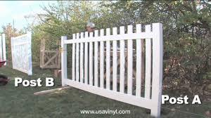 Vinyl picket fence White Youtube Vinyl Picket Fence Installation From Wwwusavinylcom Youtube