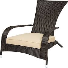 chair outdoor. wicker adirondack chair patio porch deck furniture outdoor all weather proof n