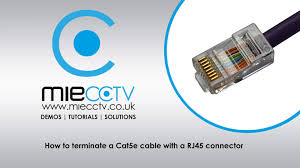 how to terminate a cat5e cable with a rj45 connector youtube rj45 wiring diagram at Wiring Diagram Rj45 Connector