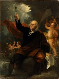 Ben Franklin with the Kite