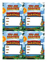 Photo Invitation Postcards Vbs Invitation Postcards Four Up Invitation Cards Vbs