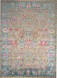 udai exports multy hand knotted modern sari silk with oxidized wool oriental rug