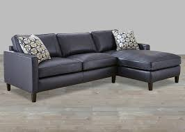 st martin collection 107 ink blue top grain leather sectional with accent pillow