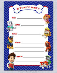 free birthday invitation template for kids paw patrol invitation template free free paw patrol invitation