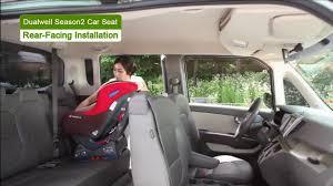 dualwell season2 d 1002 car seat rear facing installation