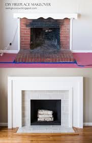 before and after tile fireplace