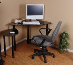 office space desk. Interior Small Corner Desks Black Varnished Wood Computer Desk Decor Contemporary Mahogany Storage Drawers Which Has Office Space