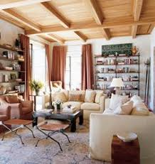 Awesome Michael S. Smith: White Living Room + Wood Accents