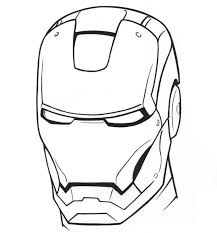 Iron man black and white clipart. Free Printable Ironman Coloring Pages Coloring Home