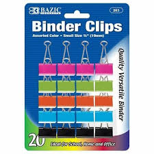 3 4 Inch Binders Pack Of 20 Binder Clips 3 4 Inch 19mm Metal Assorted Colored Small