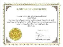 Certificate Of Appreciation Volunteer Work Free Certificate Of Appreciation Employee Template Examples