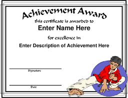 martial arts certificate template award certificate templates