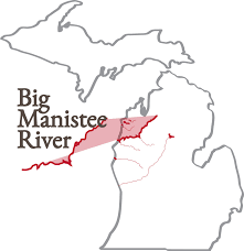 Manistee River Flow Chart Big Manistee River Northern Michigan Trail Maps First