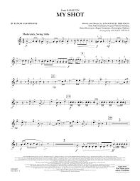 Tenor Sax Chart My Shot From Hamilton Bb Tenor Saxophone