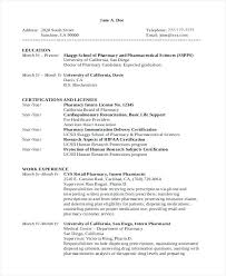 Pharmacy Internship Resumes Pharmacy Technician Resume Templates Free Resumes Professional