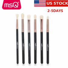 us pro 6pcs soft eye makeup brush sets eyebrow eyeshadow synthetic brushes kits
