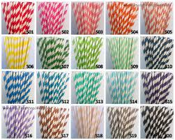 100 Paper Straws Pick Your Color Paper Straws With Free