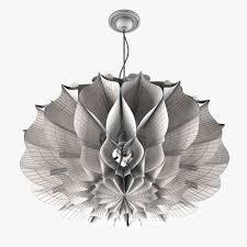 paper chandelier 3d model max fbx 5