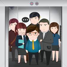 people in elevator clipart. office people in elevator vector graphic clipart t