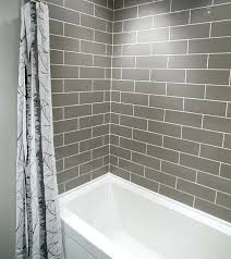 grey subway tile bathroom i love a small complete renovation with brick pattern tiles and white