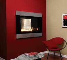 empire loft see through direct vent gas fireplace with rf controls and decorative surround 36 inch