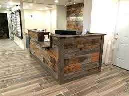 wood reception desk custom made custom barn wood reception desk reclaimed wood reception desk for wood reception desk