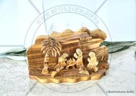 wood nativity set olive wood nativity carved tree nativity set holy family cave holy land outdoor wood nativity set