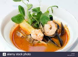 Tonyong seafood soup Stock Photo - Alamy