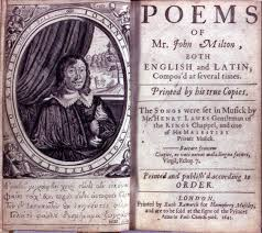 milton poems 1645 frontispiece and le page