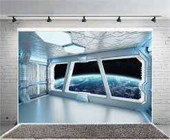 Interior Spaceship Design Aofoto 6x4ft Spaceship Interior With Window View On Planet Earth Backdrop Universe Exploration Science Fiction Spacecraft Photography Background Space