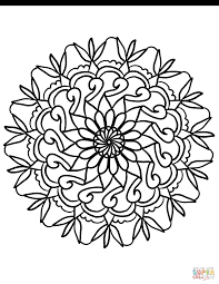 Simple Flower Coloring Pages Mandala Page Free Printable 11471484