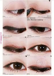 eyemakeuporange eye makeup orange korean makeup look monolid makeup