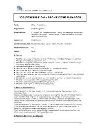 Hotel Front Desk Resume Examples Resume Peppapp