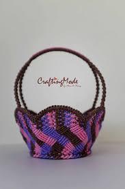 Macrame,Basket,Handmade,Medium size,<b>Flower shape</b>,<b>Natural</b> ...