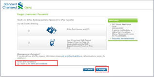 Reset Password Online Banking Bank With Us Standard
