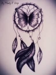Dream Catcher Butterfly Tattoo purple butterfly dream catcher tattoo tattoos Pinterest 2