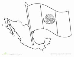 Small Picture Mexican Flag Worksheet Educationcom