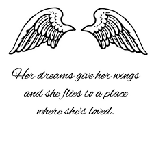 Angel Quotes Extraordinary Black Heart With Angel Wings Quotes