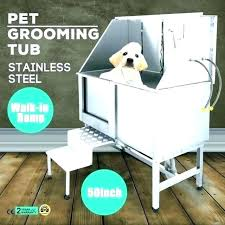 dog grooming tub used tubs bath pet with faucet walk in ramp professional canada