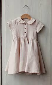 Pastel Pink Linen Baby Dress