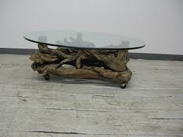 ... Oval Cottage Glass Top Tree Root Coffee Table Ideas For Living Room  Furniture Sets ...