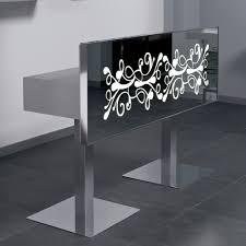 mirrored reception desk