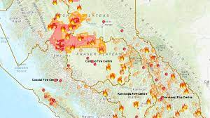 Canada Fires 2018: B.C. Wildfire Map ...