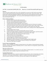 Clerical Resume Sample Glamorous Accounts Receivable Clerk Resume
