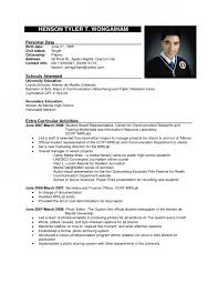 sample formal resume