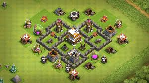 Town Hall 4 Base Design New Best Town Hall 4 Th4 Base With Replay 2019