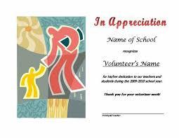 Volunteer Certificates Thank You Certificates For Volunteers Templates Certificates