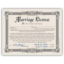 Certificates Funny Amazon Com Kalan Novelty Funny Marriage License Bachelorette