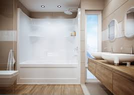 one piece tub shower units bathtub combination architecture surround combo faucet repair inch four with